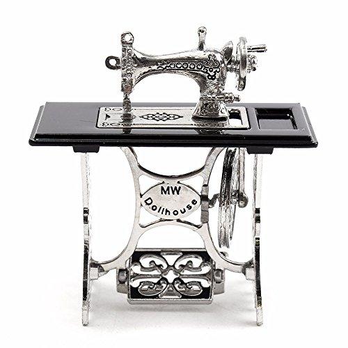 Mini máquina de coser en miniatura para casa de muñecas de escala 1/12DIY decoración regalo