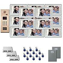 Building Video Intercom 13 seven inch color monitor door entry kit