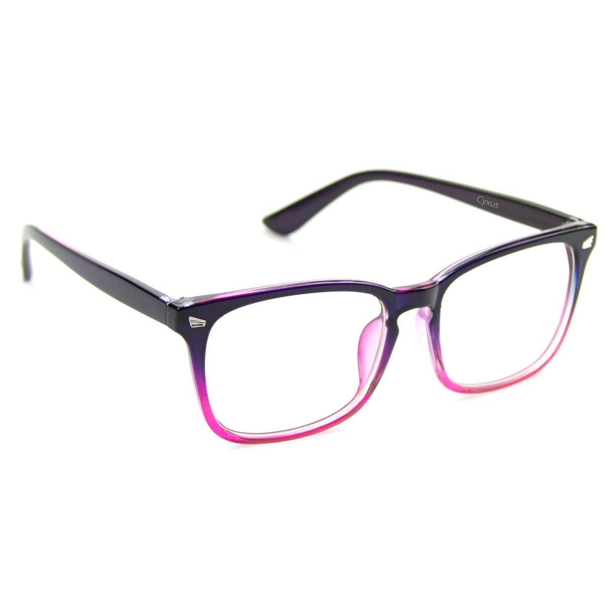 Amazon.com: Cyxus Blue Light Filter [Transparent Lens] Glasses ...
