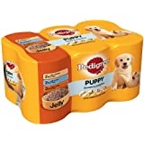 Pedigree Canned Puppy Food in Jelly 6 x 400 g (Pack of 4, Total 24 Cans)