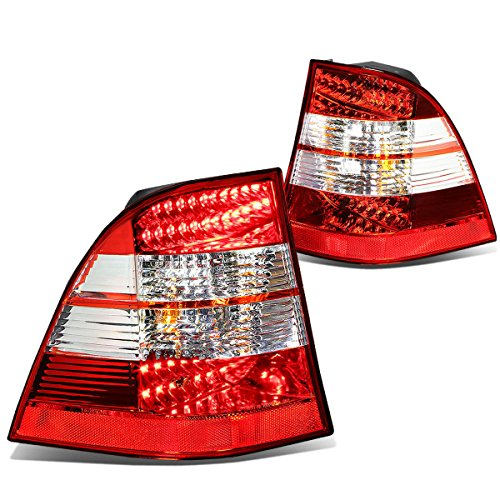 For Mercedes-Benz M-Class W163 Pair of Clear & Red Lens LED Brake + Signal Tail Lights ()