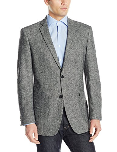 U.S. Polo Assn. Men's Wool Donegal Sport Coat, Grey, 44 Regular - Grays Wool Coat
