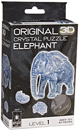 [Original 3D Crystal Puzzle - Elephant] (Make Lion Costume For Dogs)