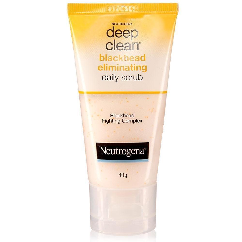 Neutrogena Deep Clean Blackhead Eliminating Daily Scrub Salicylic Acid 40 G. From Thailand