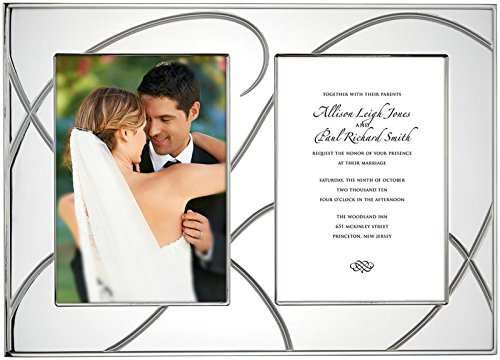 Invitation Wedding Plate (Lenox Bridal Adorn Double Invitation Frame)