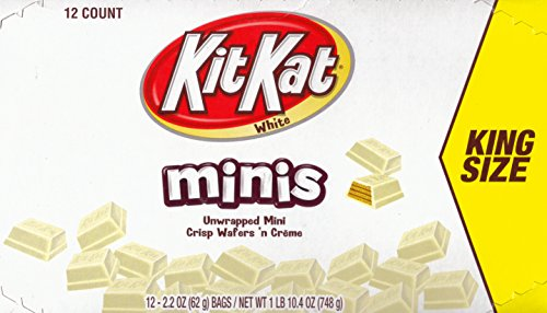 Kit Kat White Chocolate mini's King Size!! (12-2.2oz Packages)