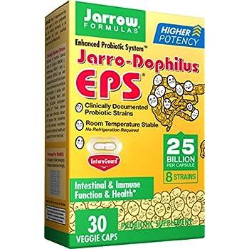 Jarrow Formulas Jarro-Dophilus EPS, Supports Intestinal Health,25 Billion Per Capsule, Supports Gastrointestinal Health, 30 Caps (Cool Ship, Pack Of 2)