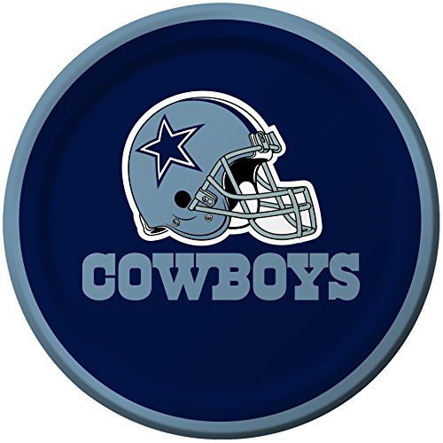 Creative Converting 8 Count Dallas Cowboys Paper Dessert Plates