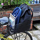 ANZOME Rear Bike Basket – Metal Wire Bicycle