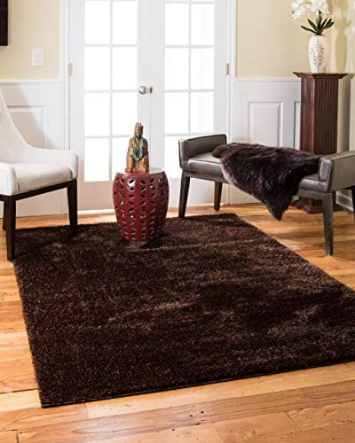 Natural Area Rugs Hand-Tufted Merida Polyester Rug 5' x 8' Chocolate