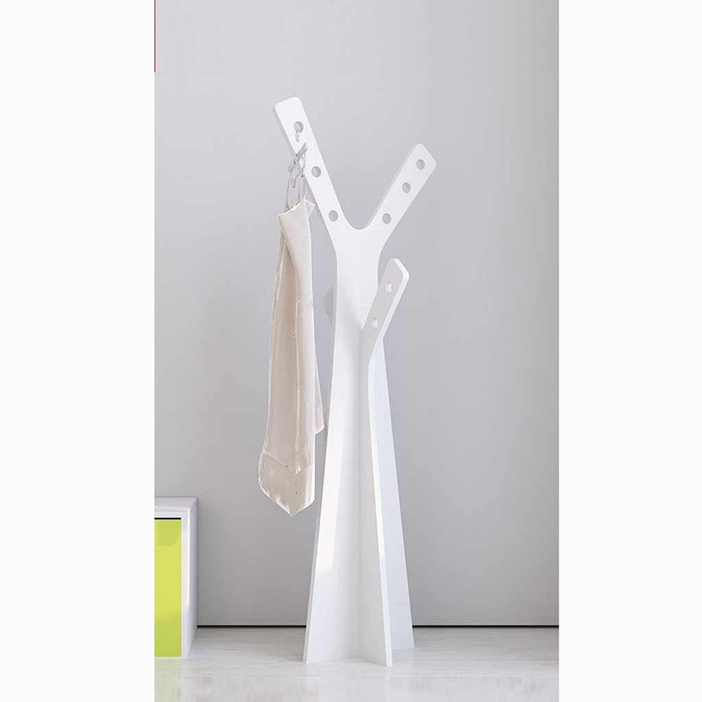 AIDELAI Coat Rack Coat Racks Wooden Children Simple Assembly Creative Simple Hanging Racks ( Color : White )