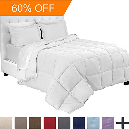 5-Piece Bed-In-A-Bag - Split Head Flex King (Comforter Set: White, Sheet Set: White) (Split Head)