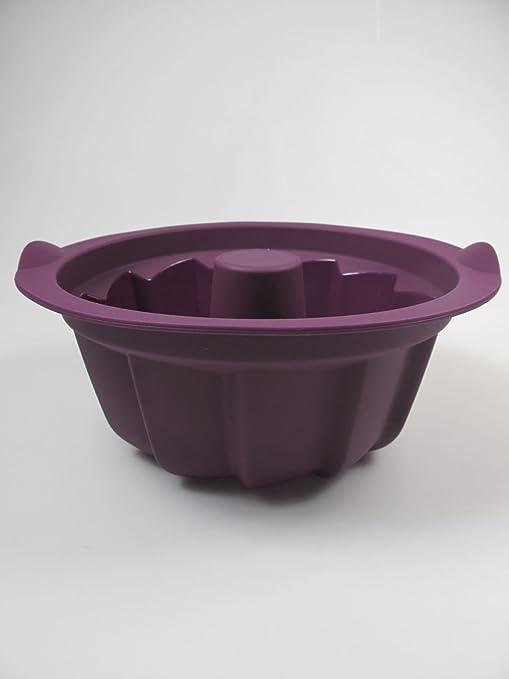 Tupperware de silicona molde de la torta molde para horno con forma de colour púrpura