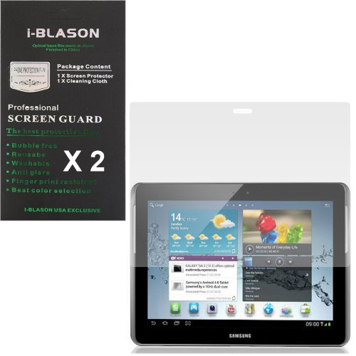 i-Blason S Pen Screen Protectors 2 Pack (1 Matte/ Anti-Glare + 1 Clear) for Samsung Galaxy Note 10.1 Inch Tablet 16GB 32GB 3G 4G Wifi Verison Android 4.0 Anti Finger Print