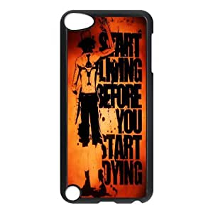 [One Piece Series] Ipod Touch 5 Cases One Piece Quotes, Bloomingbluerose - Black