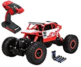 Top Race Remote Control Rock Crawler, RC Monster Truck 4WD, Off Road Vehicle, 2.4Ghz Batteries Included (TR-130) (Toy)