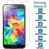 Samsung Galaxy S5 - Véritable vitre en verre trempé ultra résistante - Protection écran - AVEC BOITE