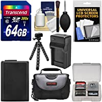 Essentials Bundle for Sony Alpha A6000, A6300, & A6500 Digital Camera & 16-50mm Lens with 64GB Card + Case + NP-FW50 Battery & Charger + Flex Tripod + Kit