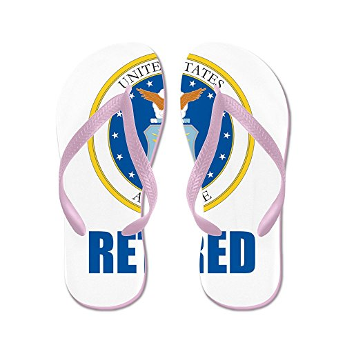 CafePress U.S. Air Force Retired - Flip Flops, Funny Thong Sandals, Beach Sandals Pink