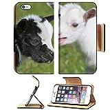 MSD Premium Apple iPhone 6 Plus iPhone 6S Plus Flip Pu Leather Wallet Case Just born white goatling nannie IMAGE 31587116