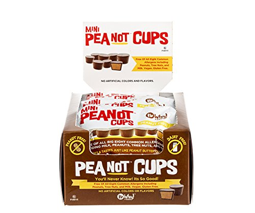 Chocolate Mini Peanot Cups (12 Pack) 1.4 oz. Gluten Free, Dairy Free, Nut Free, Soy Free, - Nuts Dairy Non