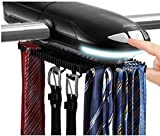 Sunbeam SB-50 Motorized Tie Rack with Built in LED Light Fits up to 50 Ties & Belts