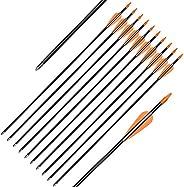Elong Fiberglass Arrows Archery 24 26 Inch Target Shooting Practice Safetyglass Recurve Bows Suitable for Yout