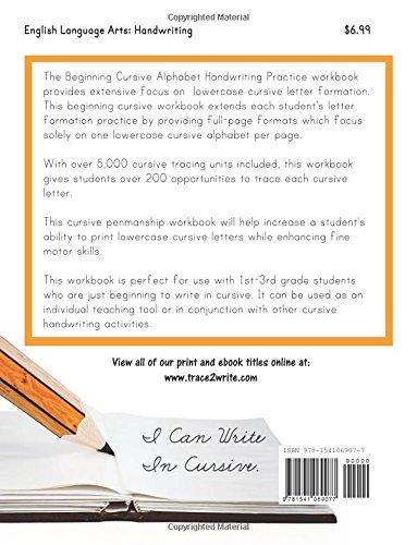 Beginning Cursive: Lowercase Cursive Letter Handwriting Practice ...