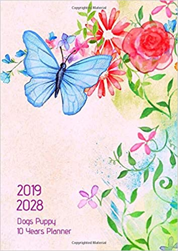 10 Years Planner 2019-2028 A4 Flying Butterfly Goals Monthly ...