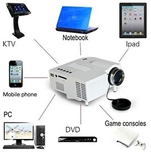 Home Cinema 1080P HD VGA HDMI LED Projector Mini Theater Multimedia USB AV TV JD by Phumon567