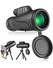 Telescopio monocular, TACKLIFE MCL01 Monocular 10 x 42, Lentes Multicapa Prisma BAK-4, Revestimiento Verde 97M / 1000M, telescopio óptico de Prisma con trípode y Adaptador para Smartphone