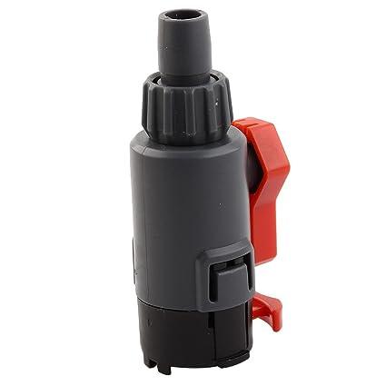 Amazon.com : eDealMax Adaptador Conector del tubo de la manguera de la válvula de Control de flujo de agua acuario plástico del tanque de pescados : Pet ...