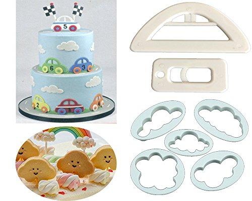 Clouds Car Cookie Cutter Set,Clouds Cookie Cutter Mould,Cup Cake Decorating Gumpaste Fondant Mould,Cute Car Cutter