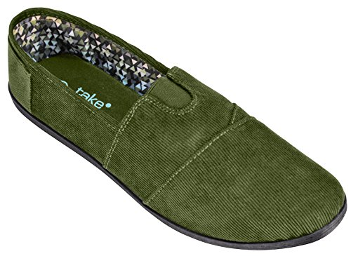 Corduroy Canvas Women Olive Take Walk Slip A on for wxqP67q8
