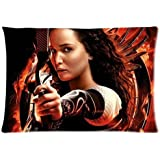 Hunger Games Katniss Everdeen Jennifer Lawrence Custom Design Pillowcase Pillow Sham Queen Size Pillow Cushion Case Cover Two Sides Printed 20x30 Inches