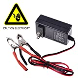 Battery Charger, PeleusTech 12V 14.4V 1A Portable Lead Acid Battery Smart Charger Maintainer - Black