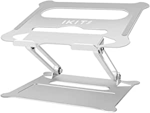 IKITS Laptop Stand, Adjustable Desk Laptop Riser Computer Laptop Mount for MacBook, Air/Pro, Microsoft Surface, Google Pixelbook, Dell XPS, HP, ASUS, Lenovo, Acer, Chromebook,Silver