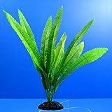 2x Aquarium PLASTIC PLANTS Cryptocoryne - Ornament Decor plant tank #AZ98012