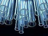 Devardi Glass COE 33 Boro Tubing, 5 Clear 16mm Borosilicate 12'' Tubes
