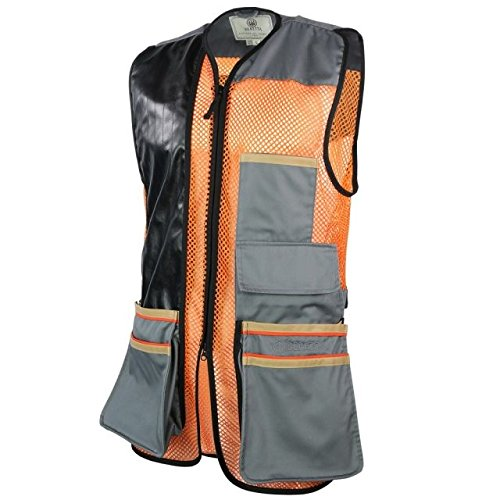 Beretta Mens US Two Tone Shooting Vest, Black Edition, L