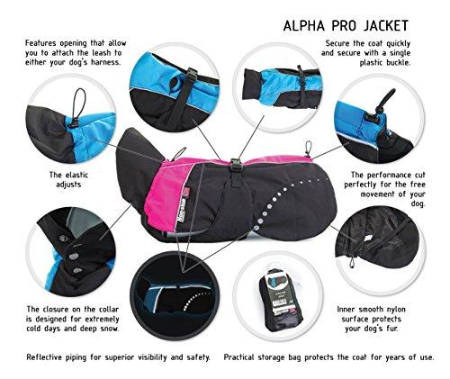 Non-stop dogwear Alpha Pro Jacket (55 cm - 21.7'', Pink) by Non-stop dogwear