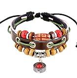 Multilayer Boho Bead Wrist Handmade Wristband Leather Bracelet Bohemia Hemp Rope Wrist Bangle