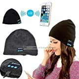 I-Sonite (Black) Unisex One Size Winter Beanie Hat With Built-In Wireless Stereo Speaker Headphone For Archos Sense 50X