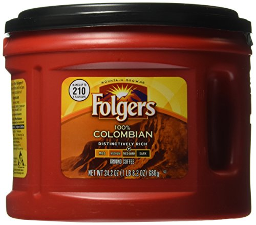 Folgers 100% Colombian Coffee, 24.2 Ounce ()