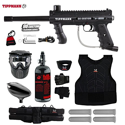 MAddog Tippmann 98 Custom Starter Protective HPA Paintball Gun Package – Black Review