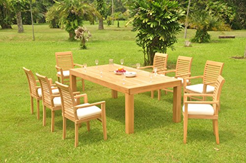 8 Seats 9 Pcs Grade-A Teak Wood Dining Set: 86