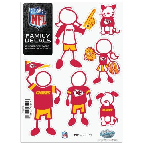 NFL Kansas City Chiefs Small Family Decal Set