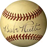 Babe Ruth Autographed Ball - Single American League Reach James Spence )