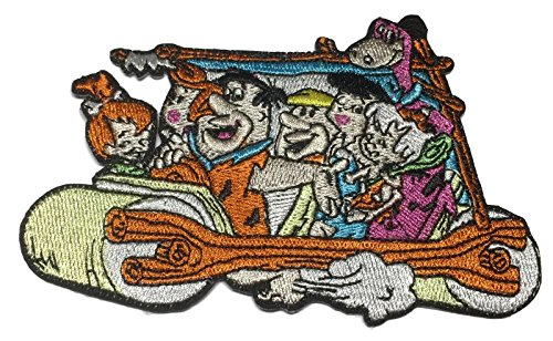 "The Flintstones Characters 4 1/4 "" Wide Embroidered Iron On Patch"