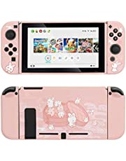 GeekShare Protective Case for Nintendo Switch, Soft TPU Slim Case Cover Compatible with Nintendo Switch Console and Joy-Con (Steamed Bun Rabbit)